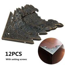 12PCS Brass Desk Table Corner Protector Guard Wooden Jewelry Box Decorative