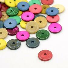100pcs Mixed Color Loose Coconut Donut Beads Spacers 15mm DIY Jewelry Making
