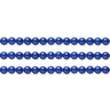 Round Malaysia Jade Beads (Dyed) Lapis Blue 4mm 16 Inch Strand