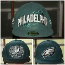New Era Philadelphia Eagles Fitted Hat Cap Green Sz 7 1/4 1/2 5/8 Snapback