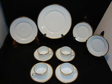 CH FIELD HAVILAND LIMOGES CHINA Lot x 12 Pcs SCHLEIGER Gold Band Trim France