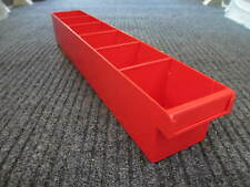 Fischer Plastic Products Storage Spare Part Tray 100*100*600 1H-027 RED