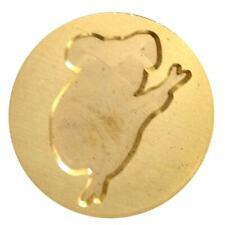 "Koala (Australian marsupial) Wax Seal Stamp - 7/8"" metal seal, wood handle"