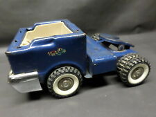 VINTAGE STRUCTO PRESSED STEEL BLUE DUAL WHEEL SEMI TRUCK - AS FOUND