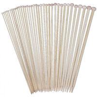 18 Sizes 36cm Single Pointed Bamboo Knitting Needles Set Kit (2.0mm - 10.0m