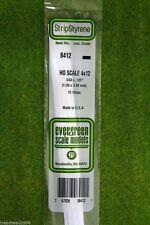 EVERGREEN STRISCIA stirene SCALA HO 4×12 1.09×3.43mm #8412