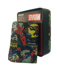 Marvel Comics Leather Trifold Wallet With Collector Tin NEW Spiderman