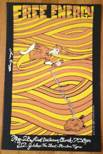 "Free Energy philly poster w/ Jukebox the Ghost miniature tigers 13x19"" #24 of 50"