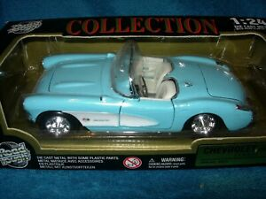 1957 Chevrolet Corvette Convertible Baby Blue with White NIB by Road Tough  1:24