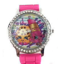 Shopkins Watch with Rhinestone & Silicone Band Analog Kid & Adult Back to School