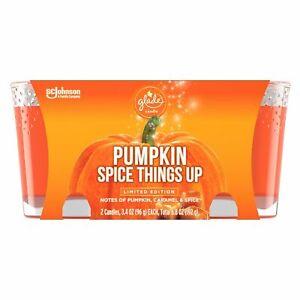 Glade Jar Candle 2 CT, Pumpkin Spice Things Up, 6.8 OZ. Total, Air Freshener, Wa