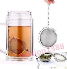 Stainless Steel Infuser Strainer Mesh Locking Tea Ball Filter Diffuser Spoon av