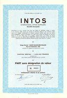 INTOS International Office Suppliers SA, accion, 1974 (Siege: Saint-Gilles)
