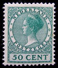NED NVPH 161 Wilhelmina 'Veth' 50 Cent Blauwgroen zeer fraai postfris CW 400,-