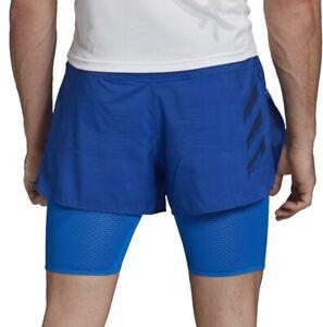 adidas HEAT.RDY 2 In 1 Mens Running Shorts - Blue