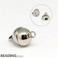 2 20Sets 304 Stainless Steel Round Magnetic Clasps DIY Jewellery Findings 14x8mm