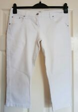 Ladies white cropped jeans size 14