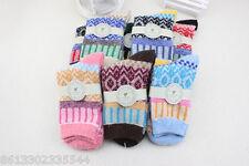 4 Pairs Women's Warm Winter Thick wool mixture ANGORA Cashmere Socks sale gift