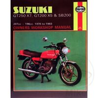 SUZUKI GT250X7, GT200X5 & SB200 TWINS 1978-1983 Haynes Repair Manual 0469