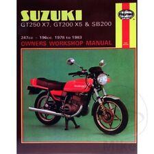 SUZUKI GT250X7, GT200X5 & SB200 TWINS 1978-1983 Haynes Repair Manual 0469