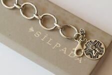 Silpada Sterling Silver Guardian Angel Angel Watch Over Me Charm Bracelet B1959