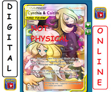 Cynthia & Caitlin 228/236 Full Art Cosmic Eclipse Pokemon TCG Online Digital