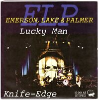 "EMERSON, LAKE & PALMER Lucky Man + Knife-Edge 7"" Single NEW! on German Manticore"