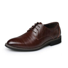 Men's British Pointed Lace Business Casual Comfortable Dress Retro Leather Shoes