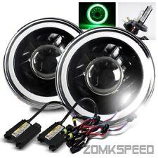"7"" Round Blue Smd 3D Halo Tube Black Diamond Projector Headlight/6000K H4-2 Hid"