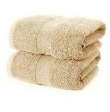 New Kingsley set of 4 Extra Large Bath Sheet Towels 180x90cm 100% Cotton beige