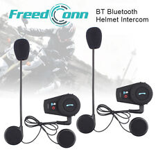 500M Motorcycle interphone BT Bluetooth helmet intercom Wireless Headsets +FM x2