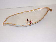 PICKARD CHINA Serving Dish - Leaf Shape - Ivory With Cattails Pattern