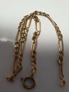 Bracelet En Or 18k Maille Figaro Unisex
