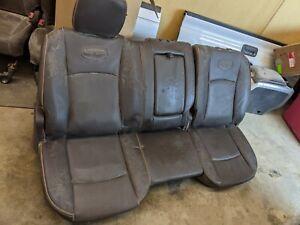 2011-2018 DODGE RAM 1500 2500 3500 LARAMIE LONGHORN REAR SEATS 11-18 leather oem