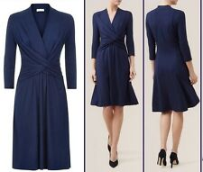New Hobbs Emilie smart casual navy dress  sz 14