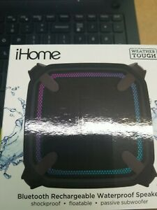 iHome Weather Tough Bluetooth Rechargeable Waterproof Speaker Brand New