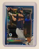 Pete Crow-Armstrong Blue Foil /150 2021 Bowman 1st Edition