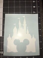 WALT DISNEY CASTLE DECAL MICKEY MOUSE STICKER WINDOW CAR LAPTOP - WHITE
