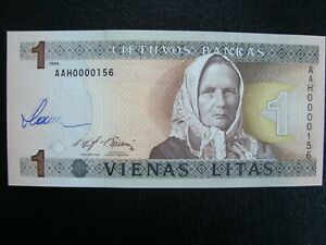 SLANIA Banknote Lithuania 1993  Pick 63  Engraver signed ! UNC  Very rare !!!