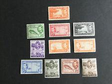 Cayman Islands stamps. KGVI 1938 short mint set