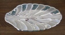 "Vintage 12"" WMF EP GERMANY BRUSHED SILVER PLATE OVER BRASS LEAF TRAY Silverplate"