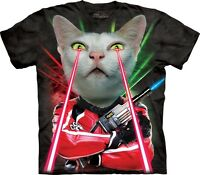 Lazer Cat Shirt, Mountain Brand, funny t, In Stock, Small - 5X, laser tag
