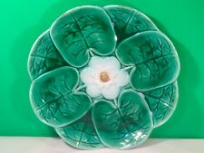 Antique Majolica Plate Pond Lily Flower Plate c.1800's