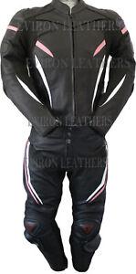 Ladies Motorbike Leather Suit 1Pcs & 2Pcs