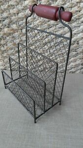 Vintage Mail Holder/Sorter Metal Chicken Wire Free Standing Or Wall Mounted