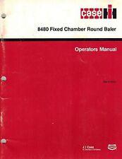 "Case Ih 8480 Fixed Chamber Round Baler Operator'S Manual ""New""*"