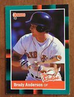 1988 DONRUSS THE ROOKIES BRADY ANDERSON #14 ROOKIE BASEBALL CARD BOSTON RED SOX
