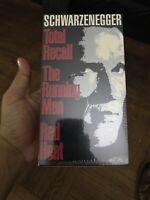 Arnold Schwarzenegger Action Pack -Total Recall, Running Man,Red Heat VHS