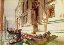 Singer Sargent Watercolor Reproductions: Gondolier's Siesta  : Fine Art Print