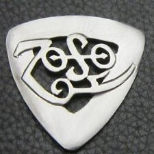 MJG STERLING SILVER ZOSO GUITAR PICK . JIMMY PAGE. LED ZEPPELIN.
